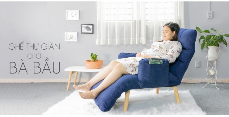 Ghế thư giãn, tựa lưng, nằm ngủ đa năng cho bà bầu