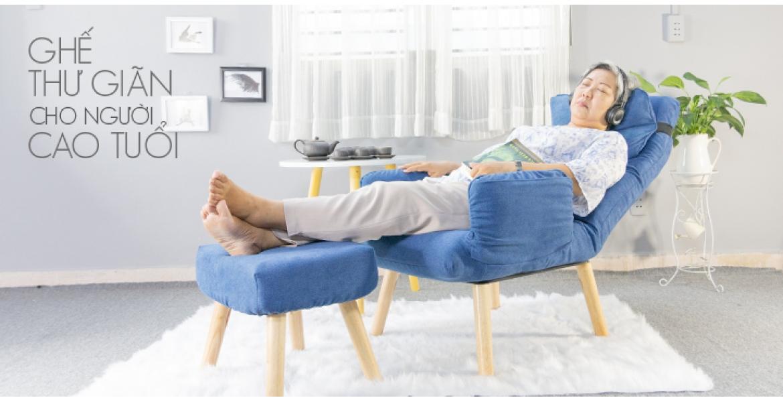 Ghế  thư giãn tựa lưng đa năng cho người già, người lớn tuổi