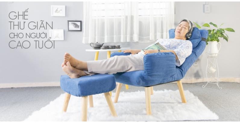 Ghế  thư giãn ,nằm ngả và tựa lưng nghỉ ngơi  đa năng dành cho người già, người lớn tuổi