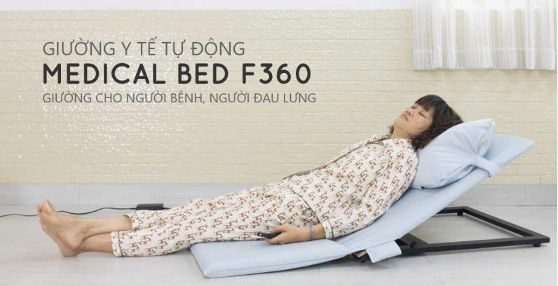 Medical Bed F360 - Mẫu ghế giường bệnh nhân tự động hỗ trợ chăm sóc người già, người bệnh