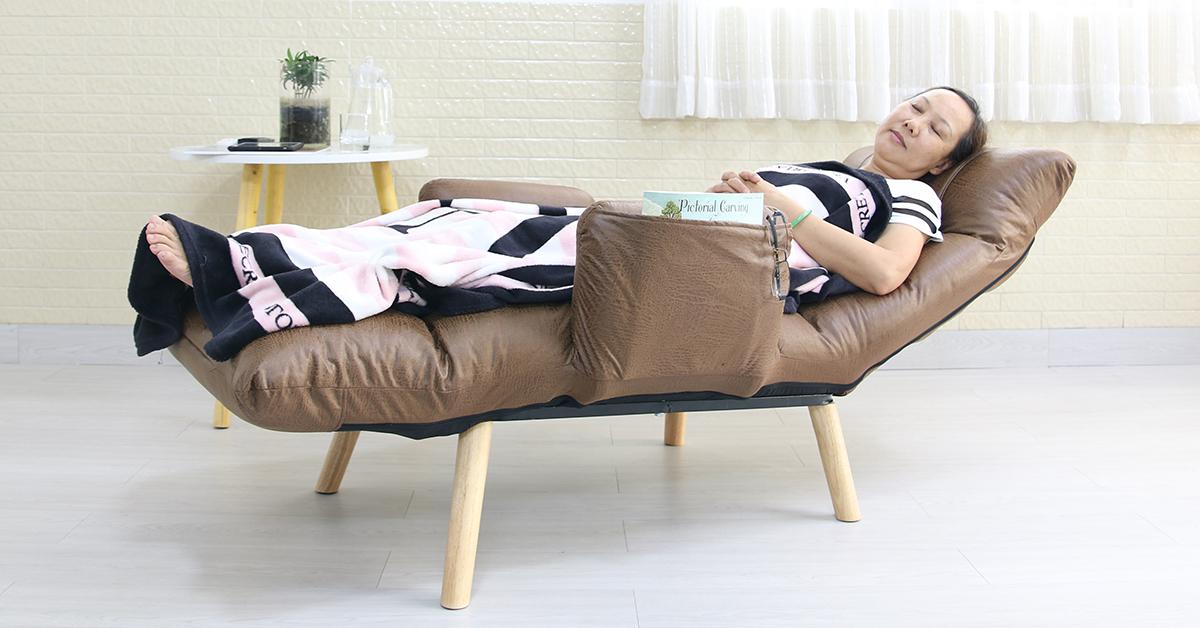 Nằm ngủ với mẫu ghế thư giãn Queen pLUS 360