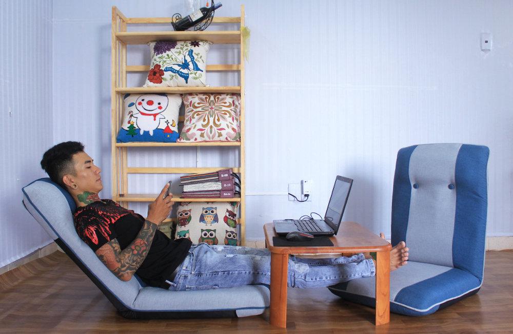 Ghế ngồi bệt tatami plus Xanh