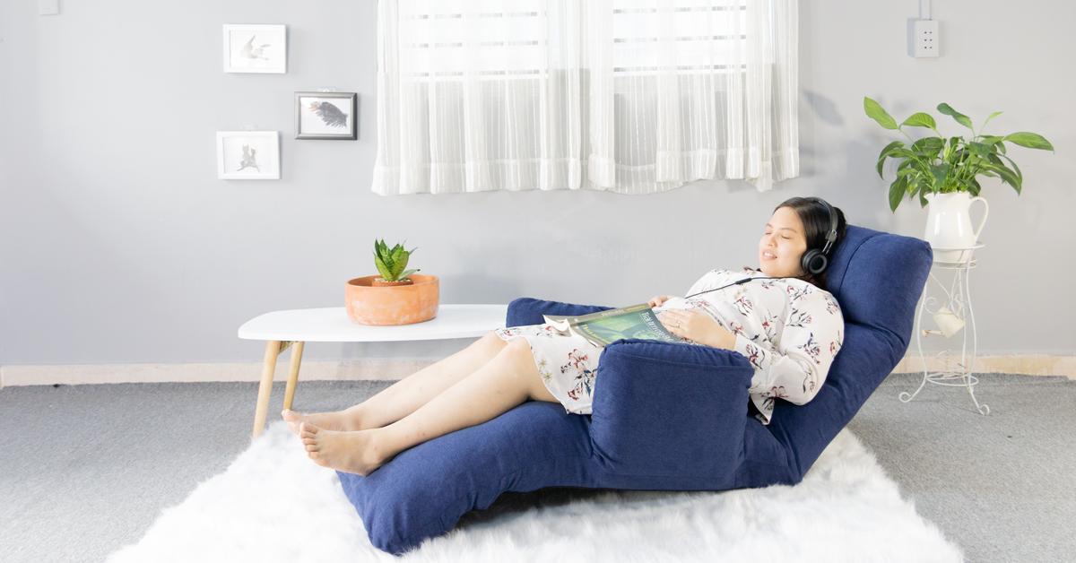 ghế nằm thư giãn, đọc sách
