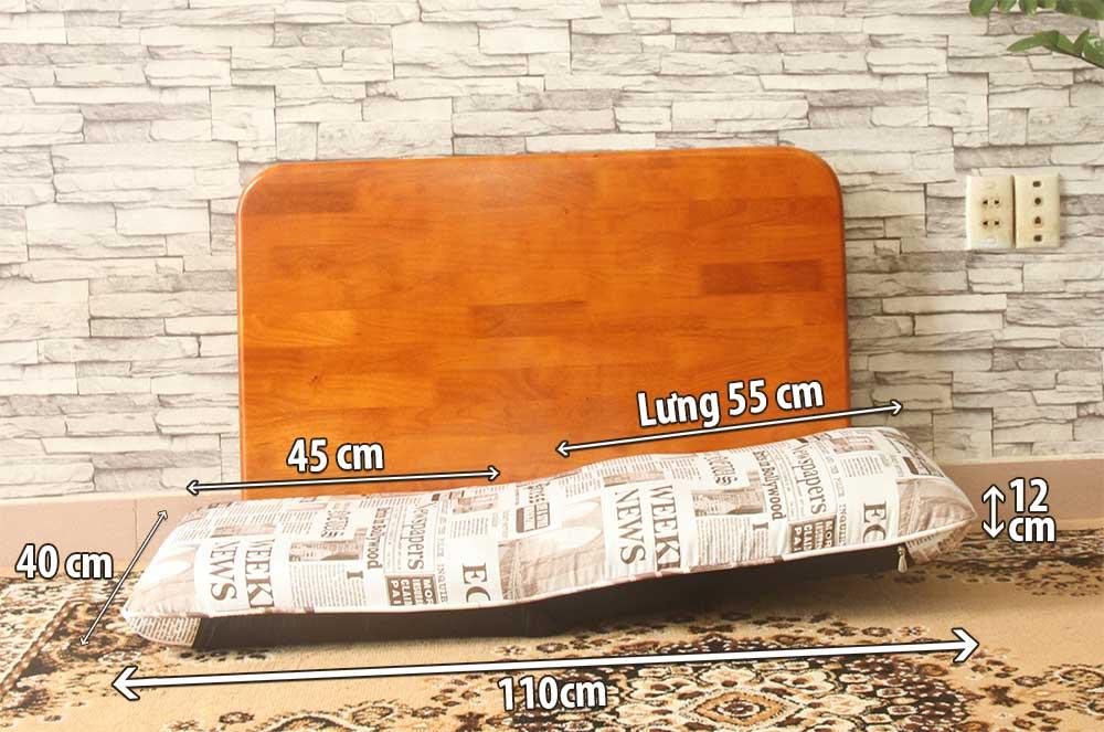 Ghế Tatami Flat kích thước