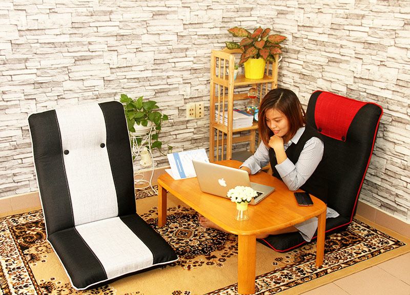 Ghế ngồi bệt Tatami Plus và Tatami Lite đỏ