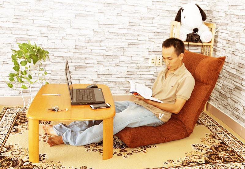 Học tập, làm việc không còn sợ đau lưng với ghế ngồi bệt Tatami Jumpo