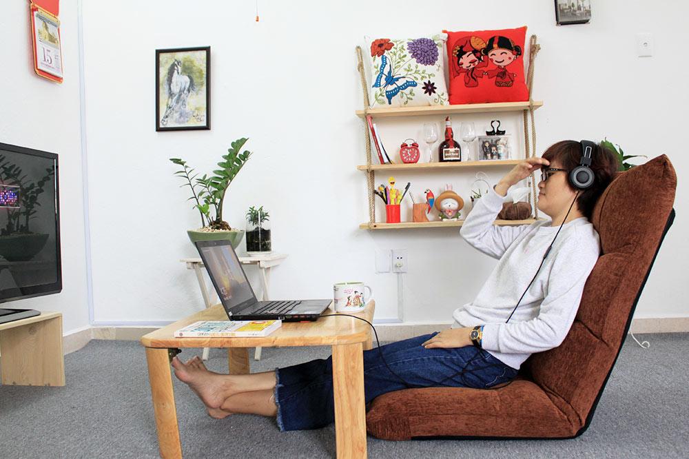 Ngồi làm việc cùng ghế ngồi bệt Tatami Jumpo