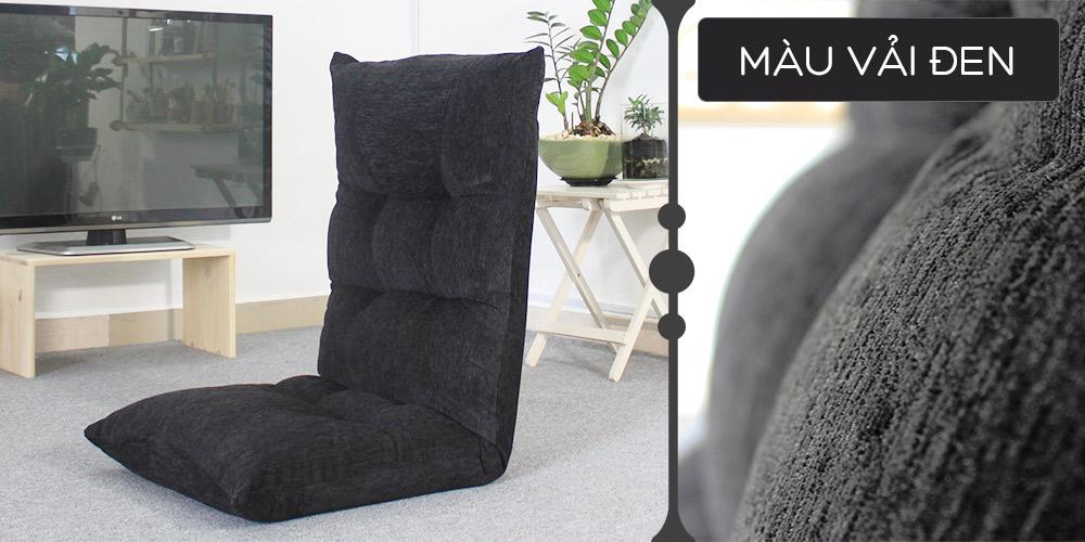 Màu vải ghế Tatami Jumpo đen