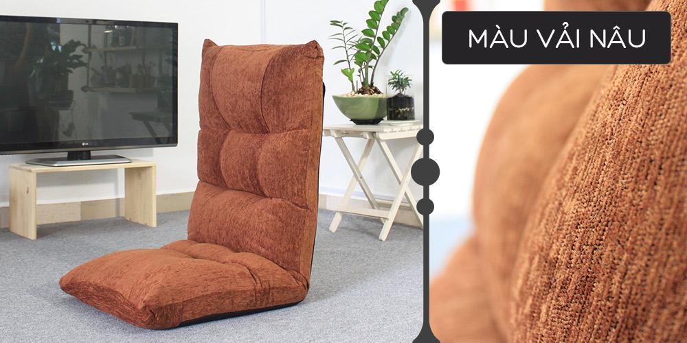 Màu vải ghế Tatami Jumpo nâu