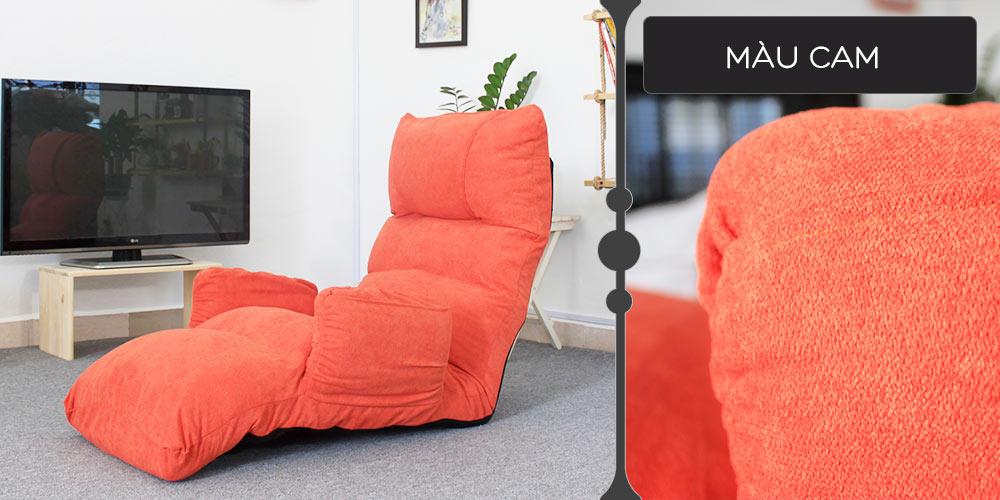 Màu vải ghế thư giãn đa năng Tatami Queen cam