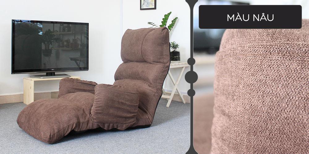 Màu vải ghế thư giãn đa năng Tatami Queen nâu