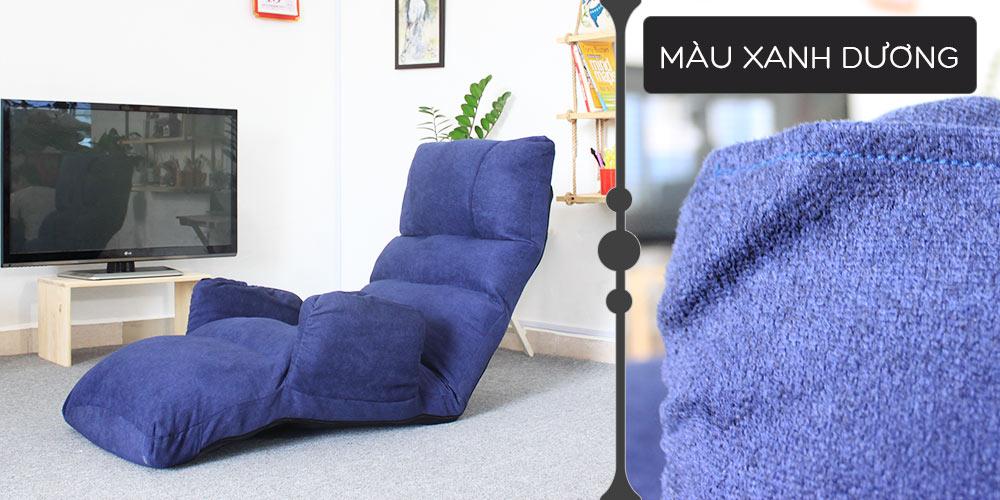 Màu vải ghế thư giãn đa năng Tatami Queen xanh