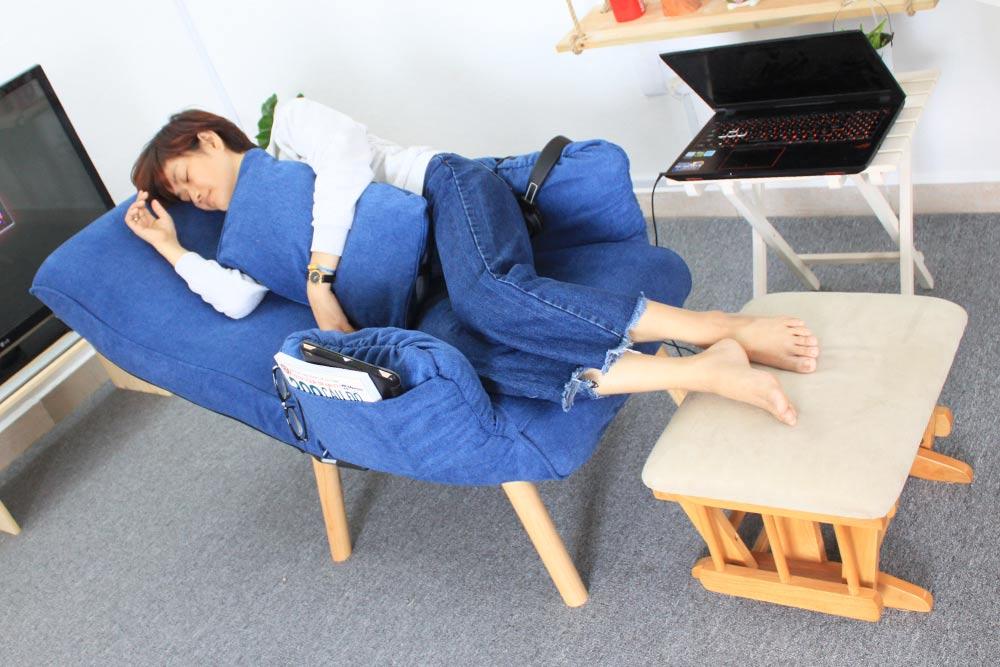 Ghế thư giãn đa năng có chân Tatami Teddy