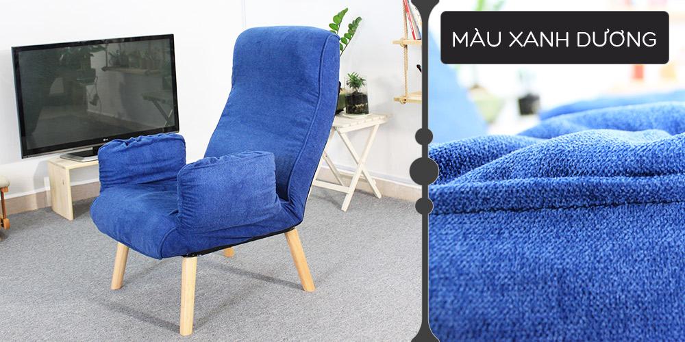 Màu vải xanh dương ghế đa năng Teddy